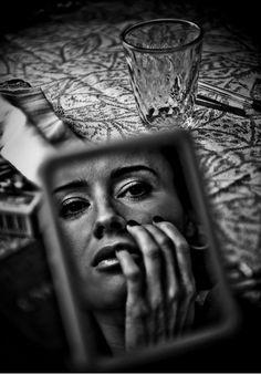 ♥ | love | image | reflection | mirror | cafe | sadness | melancholy | emotional | vibe | art | www.republicofyou.com.au