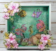 shadow box created with the Under The Sea Collection from @hcofficial