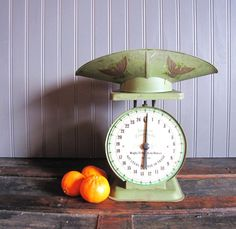 Vintage American Family Scale Avocado Green by TheRustyScarecrow, $65.00
