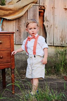 Baby Boy and Toddler Boy Suspenders And Clip On Bow Tie SET on Etsy, $28.00