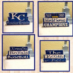Kansas+City+Royals+interchangeable+blocks+by+SpringdaleWoodworx