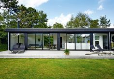 Excellent Summer House Design Ideas To Try Asap 26 Wooden Summer House, Corner Summer House, Octagonal Summer House, Orangerie Extension, Danish House, Patio Canopy, Modern Farmhouse Exterior, House Layouts, Glass House