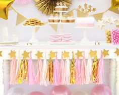 Gold Bronze Star Garland Wedding decoration Gold by HoopsyDaisies