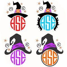 Witch Halloween Cuttable Designs SVG DXF EPS use by CuttableSVG
