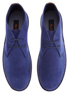ab283b047543 Ben Sherman Blue Suede Boots  Burton - Anything Blue Ben Sherman