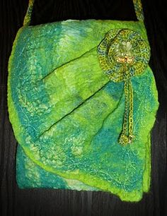 felted bag .... bit of silk in there too me thinks