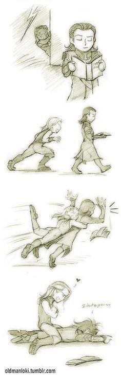 Loki and Thor Fan Art ~ Cute: