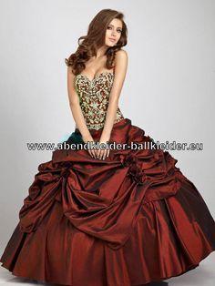 Dunkel Rotes Ballkleid Abendkleid Brautkleid