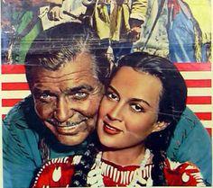 María Elena Márquez- Clark Gable- across the wide missouri. Incursiono en el cine norteamericano, ganado inclusive un globo de oro.