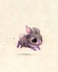 cute lil' rabbit drawing. can't get enough of it...literally look at those big...cute..adorable...eyes.