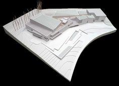 NUEVO MUSEO UNIVERSIDAD DE NAVARRA. Maqueta del proyecto presentado por Rafael Moneo