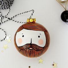 Items similar to Ginger Beard Christmas Bauble Ceramic Bauble on Etsy – Hair Style