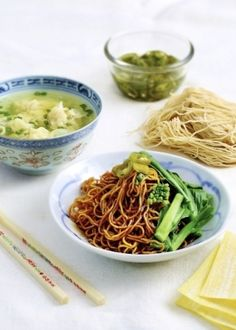 Prawn Wantan Mee. Crunchy, succulent prawn wantans are the crowning glory of this appetising and simple noodle dish.