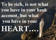 At være rig..