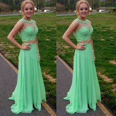 Charming Prom Dress,New Arrival Prom Dress,Two Piece Prom