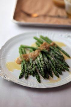 7748aae336334f Mario Batali s Asparagus with walnut-orange pesto and citronette. Chef  RecipesItalian RecipesFood ...