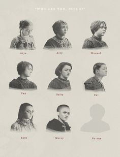 The many guises of Arya Stark