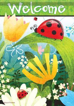 Ladybug Hideaway Garden Flag Garden Flags, Soft Fabrics, Buy Ladybugs, Flags For Sale, Mini Flags, Flag Decor, House Flags, Spring Time