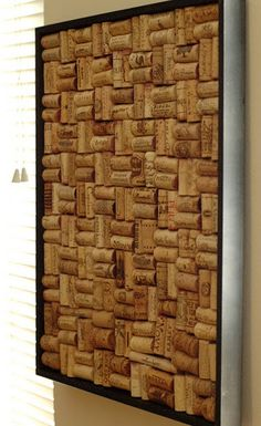 DIY Instant cork board, literally... What to Do With Used Wine Corks (and a Trip Down Memory Lane) - sweet idea!