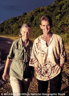 Jane Goodall   Jane with her son Grub (Hugo) van Lawick    Read more: http://www.dailymail.co.uk/home/you/article-1315905/Me-Jane.html#ixzz2CAiDuYUH   Follow us: @MailOnline Pics on Twitter | DailyMail on Facebook
