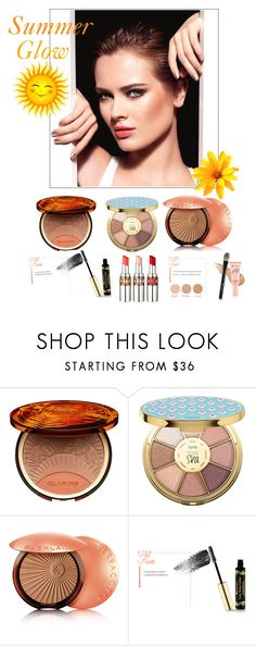 """""""Summer Glow"""" by karenxxander ❤ liked on Polyvore featuring beauty, Clarins, tarte, Guerlain, BHCosmetics and Yves Saint Laurent"""