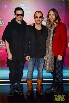 Jared Leto & 30 Seconds to Mars - MTV EMA 2013 Red Carpet