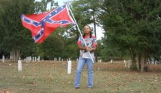 Karen Cooper, a black woman who lives in Virginia, said she supports the Confederate flag because it 'represents freedom.'