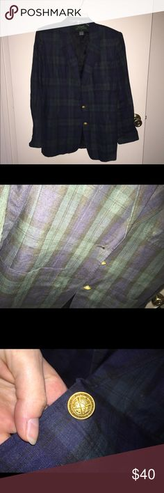 Selling this Ralph Lauren plaid sports jacket on Poshmark! My username is: starlabrody. #shopmycloset #poshmark #fashion #shopping #style #forsale #Ralph Lauren #Jackets & Blazers