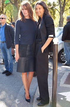They both look great, but I love the skirt combo, simple yet comfortable and chic
