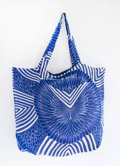 I found this on www.burkedecor.com, blue chevron flower by Sabine + Sailor