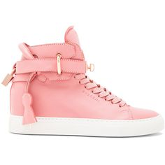 Buscemi 100MM Alta High Top Leather Sneakers found on Polyvore
