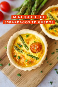 Mini Quiches, Leek Quiche, Cherry Tomatoes, Asparagus, Veggies, Appetizers, Cooking Recipes, Stuffed Peppers, Baking