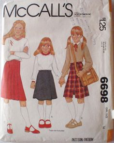 Girl's Sewing Pattern  Teen or Preteen Skirt  by Shelleyville