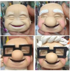 Fondant Cake Tutorial, Fondant Cake Toppers, Fondant Figures, Fondant Cakes, Cute Polymer Clay, Cute Clay, Polymer Clay Dolls, Polymer Clay Crafts, Cold Porcelain Tutorial