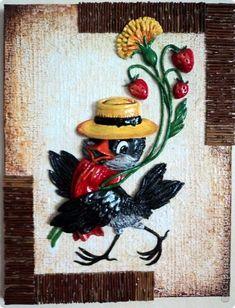 Картина панно рисунок Лепка Картинки-открытки Тесто соленое фото 2