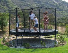 landscape under trampoline - Google Search