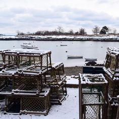 You know it's a good New England winter when you walk outside & straight into an episode of Deadliest Catch  Captured by TCC Crew Member: @maura.honan #newengland #coastalliving #verytandc #ignewengland #thetcccrew