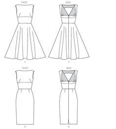 Butterick 6094 Misses' Dress Clothing Patterns, Dress Patterns, Sewing Patterns, Sewing Ideas, Sewing Projects, Miss Dress, New Dress, Vintage Style Dresses, Nice Dresses