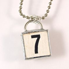 Number 7 Pendant Necklace by XOHandworks $20