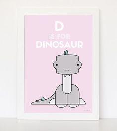 Nursery decoration ideas - Pink Dinosaur Nursery Prints, Nursery Decor, Digital Prints, Colours, Decoration, Classic, Artwork, Pink, Ideas