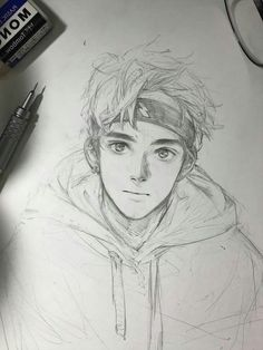 New drawing sketches boy art ideas – Art Sketches Anime Drawings Sketches, Cool Art Drawings, Pencil Art Drawings, Anime Sketch, Drawings For Boys, Sketches Of Boys, Cute Boy Drawing, Guy Drawing, Painting & Drawing