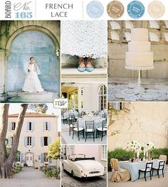 French Lace Inspiration Board (Blue, Natural, Taupe, Ivory)