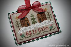 how to finish cross stitch projects   (...cr...got this pattern....Little House Needleworks)