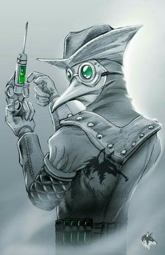 The Plague doctor is the first menace that Kailan and his team encounter. He commits a series of murders and spreads a mutant plague threw his victims that threatens the city. Dark Fantasy Art, Dark Art, Arte Horror, Horror Art, Character Concept, Character Art, Plague Mask, Plague Doctor Mask, Plauge Doctor