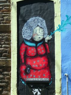 Stokes Croft is awash with street art - this little offering on the corner of City Road.