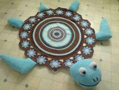 Sea+Turtle+Crochet+Rug+Free+Pattern+