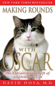 Making Rounds with Oscar: The Extraordinary Gift of an Ordinary Cat by David Dosa http://smile.amazon.com/dp/1401310435/ref=cm_sw_r_pi_dp_Wuwuub19C235M