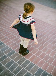 Sweet Heart Fair Isle Sweater Pattern (paid) from Ravelry.  Such a sweet idea for the little one