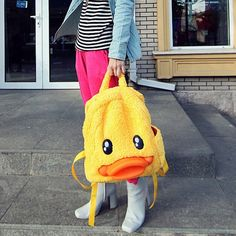 Cute Duck Plush Backpack
