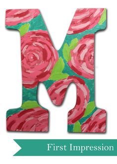 Lilly Pulitzer Inspired Letter. $18.99, via Etsy.